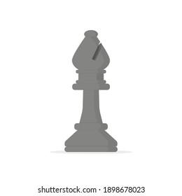 Flat design chess bishop vector graphics