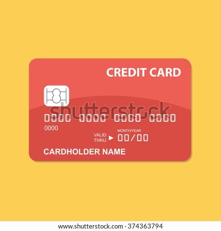 flat design credit card template のベクター画像素材 ロイヤリティ