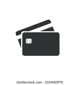 Flat design of credit or debit card on transparent background. Vector illustration. Isolated