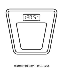 flat design digital scale icon vector illustration