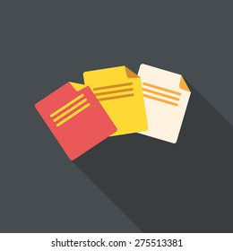 Flat design documents, vector illustration.