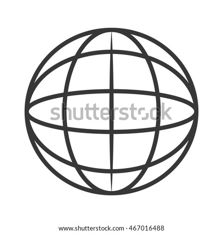 Flat Design Earth Globe Diagram Icon Stock Vector Royalty Free