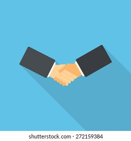 Flat design handshake vector illustration