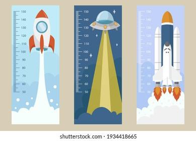 Flat design height meters Vector illustration.