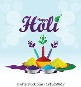 Flat design holi indian festival celebration illustration