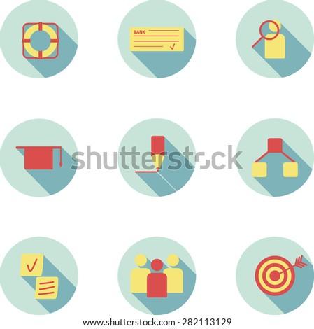 flat design icon customer relationship management stock vector