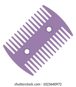 Flat design icon of lice comb for removing lice and nits