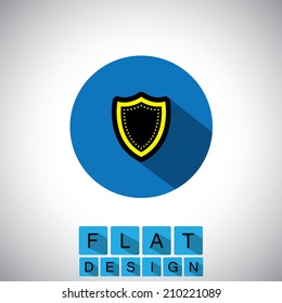 flat design icon of safety & security - vector graphic. This graphic can also represent security of money, investments, online fraud, safety against virus, malware, trojans, etc