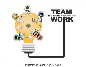 Flat design illustration concept for business analysis and brainstorm teamwork, creative innovation, consulting, financial report and project management strategy. Vector illustration.