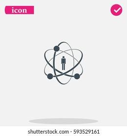 Flat design illustration concept for human skills.