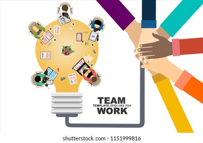Flat design illustration concepts for business analysis and planning, big idea, consulting, team work, project management, financial report and strategy . Concepts web banner and printed materials.