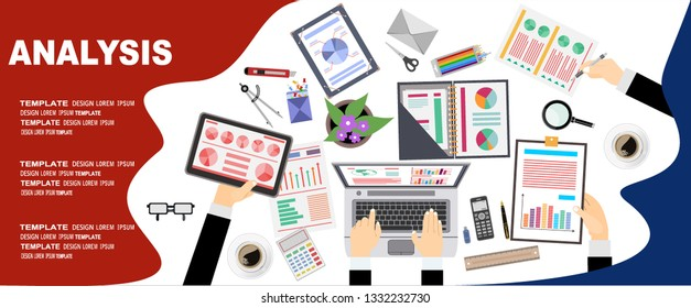 Flat design illustration concepts for business analysis and planning, financial strategy, consulting,project management and development. Concept to building successful business