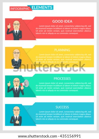 Flat Design Infographic Business Template Business Stock Vector ...