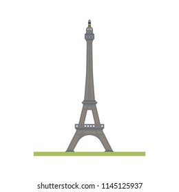 Flat design isolated vector icon of the Eiffel tower at Paris, France