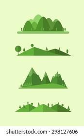 Flat design landscape illustration