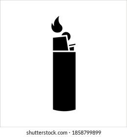 Flat design Lighter, vector illustration of Lighter on white background. color editable