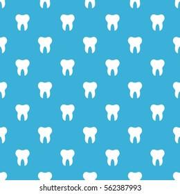 Flat design minimalistic teeth, dental seamless pattern background.