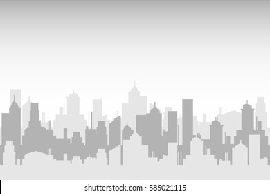 Flat design modern vector illustration icons set of urban landscape backgrounds