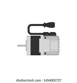 flat design  motor drive, servo electric motor, illustration, isolated on white background - Vector