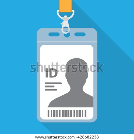 flat design name tag badge template stock vector royalty free