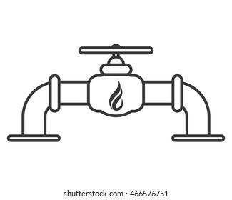 flat design natural gas pipeline icon vector illustration