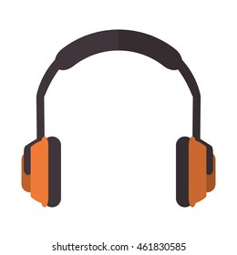 flat design noise isolating headphones icon vector illustration
