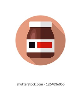 Flat design Nutella