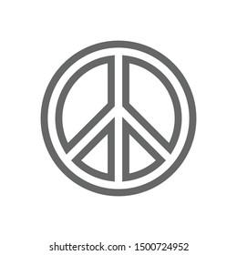 Flat design peace icon vector