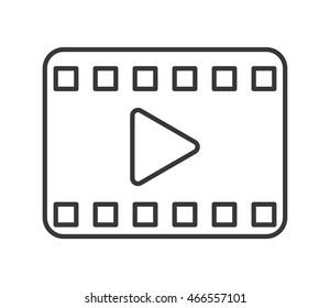 flat design play video icon vector illustration