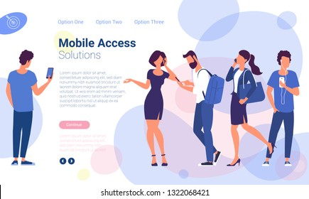 Flat design  ready to animation characters  social media  networking and marketing web page template. Modern urban people creative  illustration.