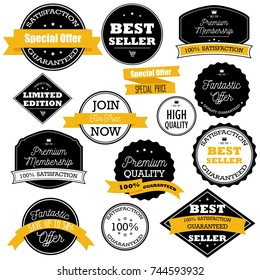 Flat design sale badges and stickers collection. Sale and promotion, delivery website and mobile badges, promo banners, special offer, shopping vector illustration design and marketing material