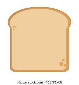 flat design single bread slice icon vector illustration