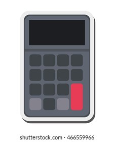 flat design single calculator icon vector illustration