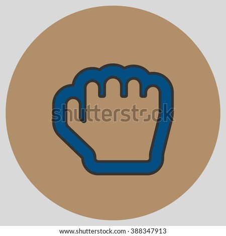 Flat Design Style Grab Hand Hand Stock Vector (Royalty Free