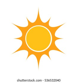Flat design sun icon illustration