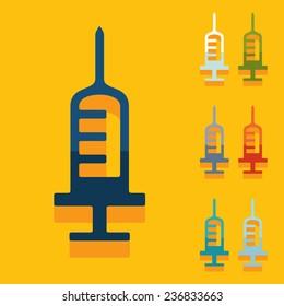 Flat design: syringe