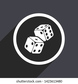 Flat design two dices vector icon