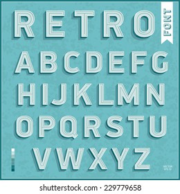 Flat design type font, vintage typography. Vector illustration.