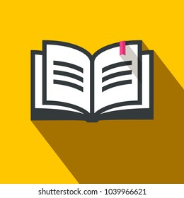 Flat Design Vector Book Icon