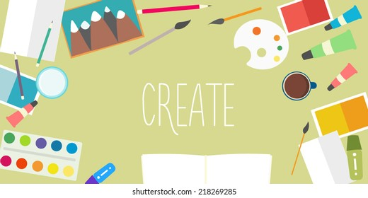 Flat design vector creative background