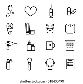 Flat design vector illustration of decorative and aesthetic medicine, spa.
