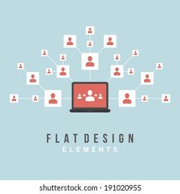 Flat design vector illustration infographic design elements concept. Business and social media design. Design template.