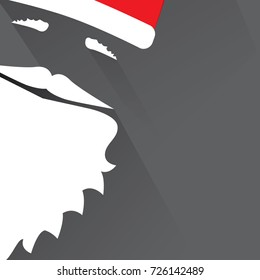 Flat Design Vector Saint Nicholas on black background. Greeting Card.
