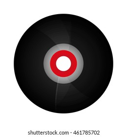 flat design vinyl record icon vector illustration
