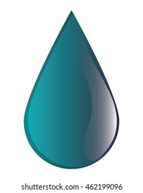 flat design water drop icon vector illustration