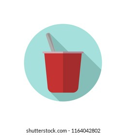 Flat design yogurt