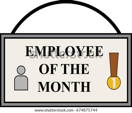 Flat Designed Employee Month Frame Logo Stock Vector (Royalty Free ...