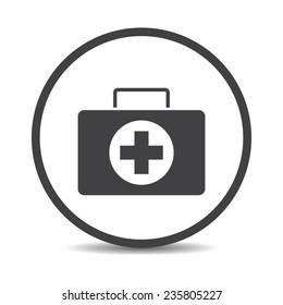 Flat designed medicine chest icon