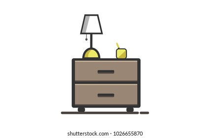 Flat desk vector design