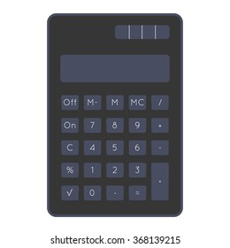 Flat digital calculator vector illustration
